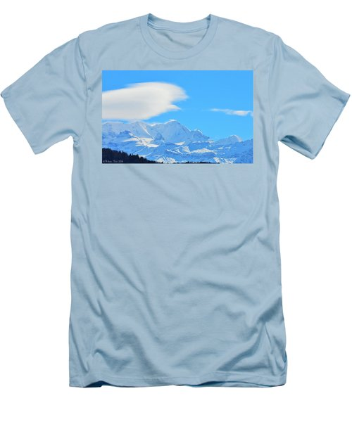 Cold And Sunny Alps Men's T-Shirt (Slim Fit) by Felicia Tica