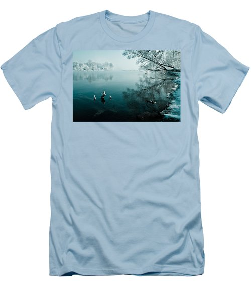 Color Of Ice Men's T-Shirt (Slim Fit) by Davorin Mance