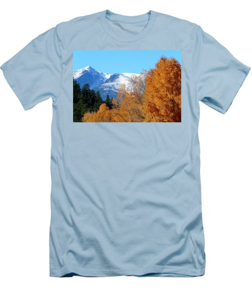 Colorado Mountains In Autumn Men's T-Shirt (Athletic Fit)