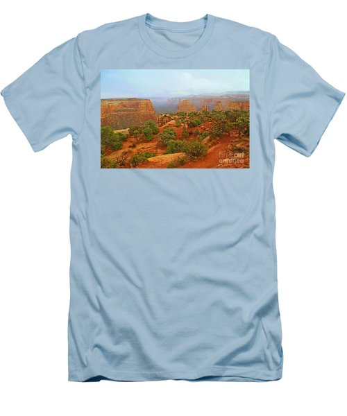 Colorado Natl Monument Snow Coming Down The Canyon Men's T-Shirt (Athletic Fit)