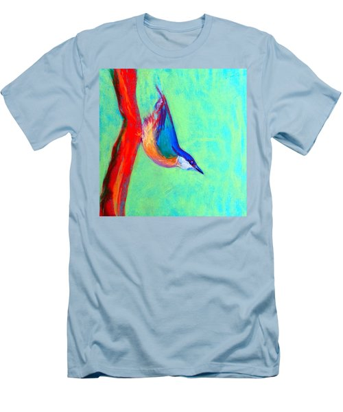 Colorful Nuthatch Bird Men's T-Shirt (Athletic Fit)