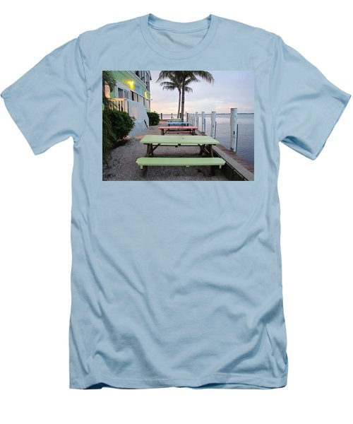 Men's T-Shirt (Slim Fit) featuring the photograph Colorful Tables by Cynthia Guinn