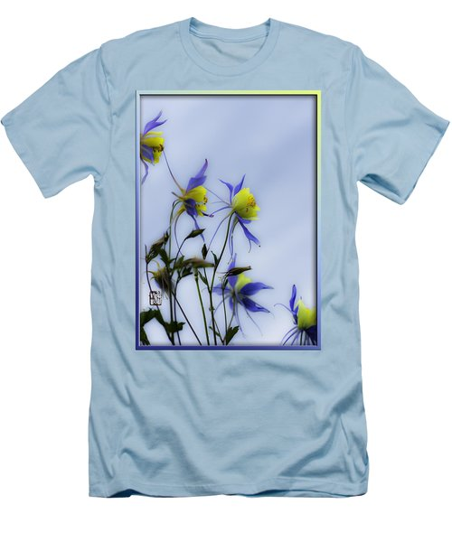Columbines Men's T-Shirt (Slim Fit) by Peter v Quenter