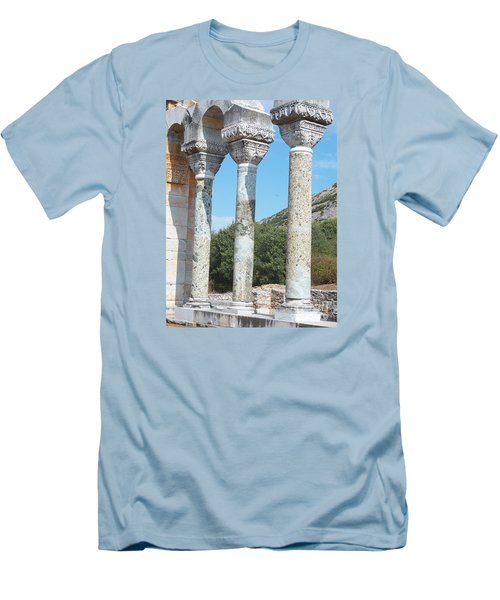 Men's T-Shirt (Slim Fit) featuring the photograph Columns by Marilyn Zalatan