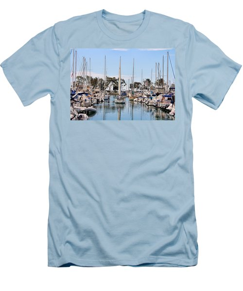 Come Sail Away Men's T-Shirt (Slim Fit) by Tammy Espino