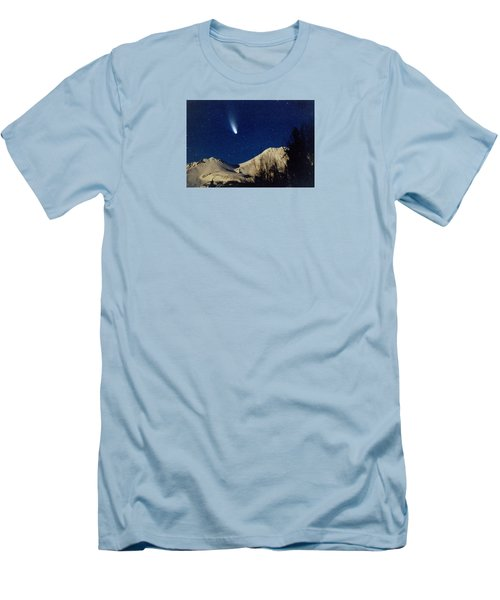 Comet Hale Bopp Rising Over Mount Shasta 01 Men's T-Shirt (Athletic Fit)