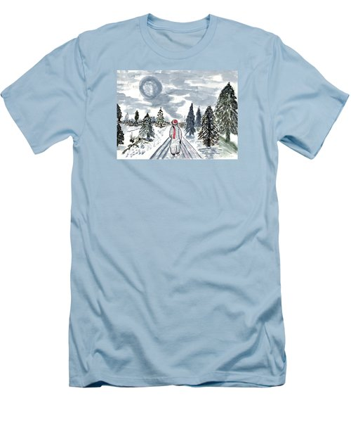 Coming Home Men's T-Shirt (Slim Fit) by Connie Valasco