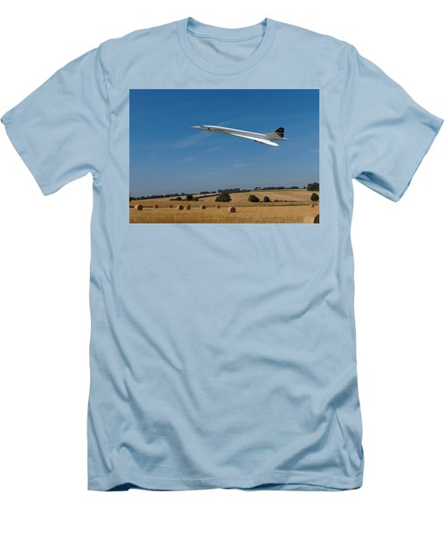 Concorde At Harvest Time Men's T-Shirt (Slim Fit) by Paul Gulliver