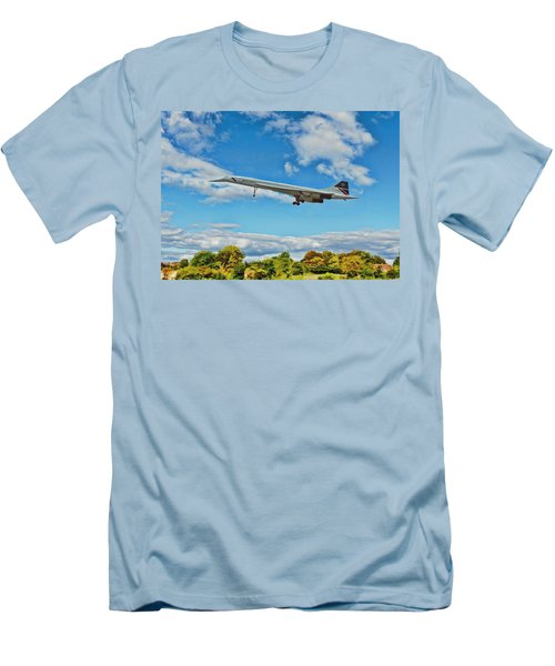 Concorde On Finals Men's T-Shirt (Slim Fit) by Paul Gulliver