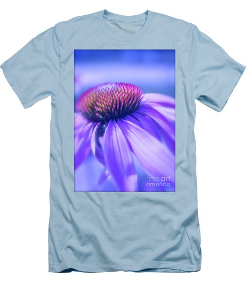 Cone Flower In Pastels  Men's T-Shirt (Athletic Fit)