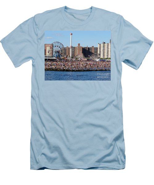 Men's T-Shirt (Slim Fit) featuring the photograph Coney Island by Ed Weidman