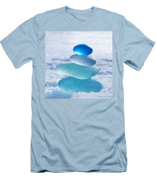 Cool Blues Men's T-Shirt (Slim Fit) by Barbara McMahon