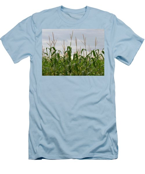 Men's T-Shirt (Slim Fit) featuring the photograph Corn Field by Laurel Powell