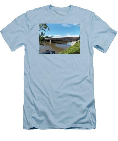 Cornish Windsor Bridge Men's T-Shirt (Slim Fit) by Catherine Gagne