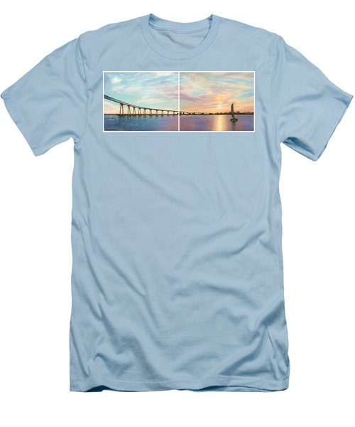 Coronado Bridge Sunset Diptych Men's T-Shirt (Athletic Fit)