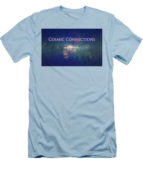 Men's T-Shirt (Slim Fit) featuring the photograph Cosmic Connections by Lanita Williams