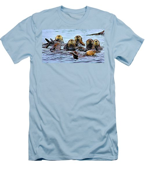 Couch Critters Men's T-Shirt (Slim Fit) by Kristin Elmquist