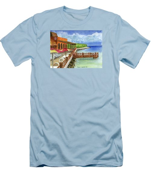Cozumel Mexico Little Pier Men's T-Shirt (Athletic Fit)