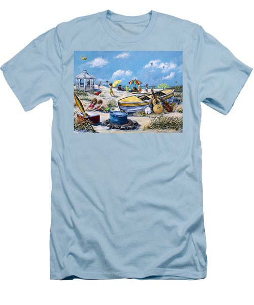 Crab Pickin Men's T-Shirt (Athletic Fit)