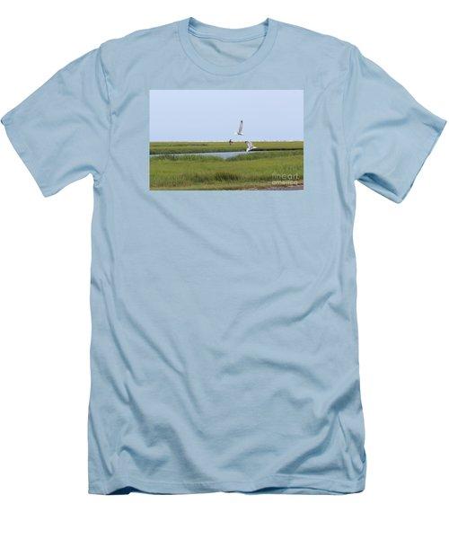 Crabber Men's T-Shirt (Slim Fit) by David Jackson