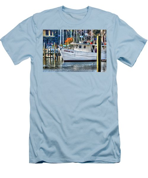 Crimson Tide In Harbor Men's T-Shirt (Slim Fit) by Michael Thomas