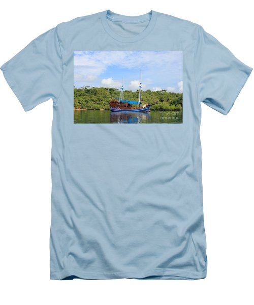 Men's T-Shirt (Slim Fit) featuring the photograph Cruising Yacht by Sergey Lukashin