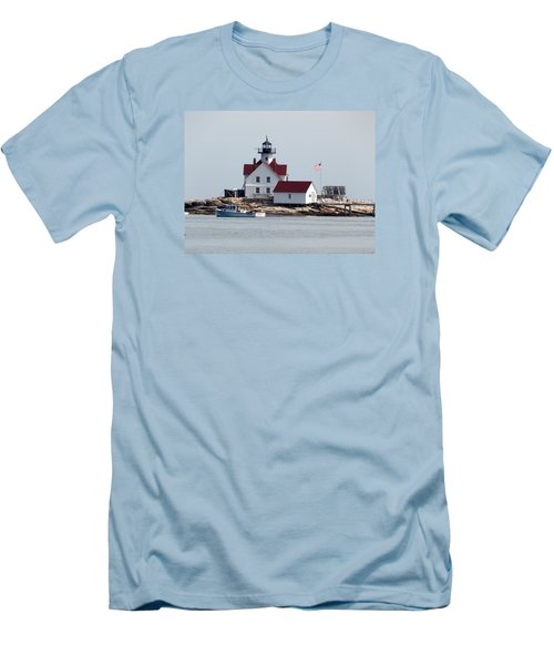 Cuckholds Lighthouse Men's T-Shirt (Slim Fit) by Catherine Gagne