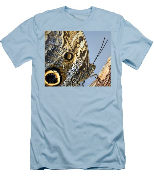 Curve Of A Butterfly Men's T-Shirt (Slim Fit) by Sonya Lang