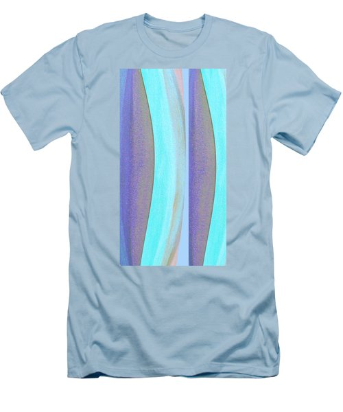 Men's T-Shirt (Slim Fit) featuring the painting Curves2 by Stephanie Grant