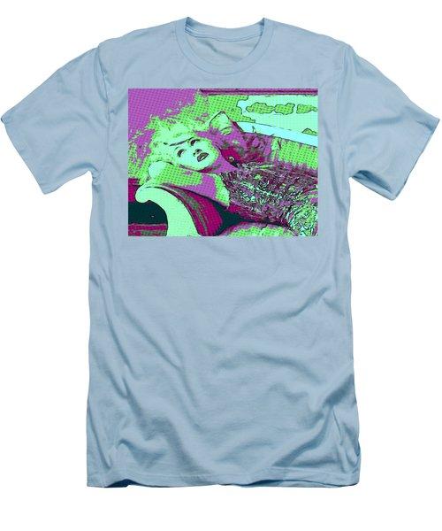 Cyndi Lauper Men's T-Shirt (Slim Fit) by Catherine Lott
