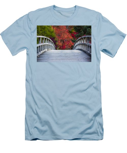 Men's T-Shirt (Slim Fit) featuring the photograph Cypress Bridge by Sebastian Musial