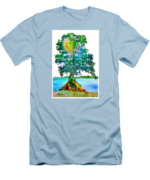 Da107 Cypress Tree Daniel Adams Men's T-Shirt (Athletic Fit)