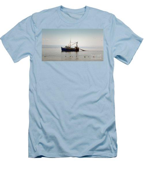 Daily Catch Men's T-Shirt (Slim Fit) by Lynn Bolt