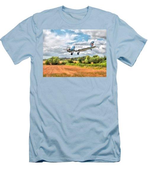 Dakota - Cleared To Land Men's T-Shirt (Slim Fit) by Paul Gulliver
