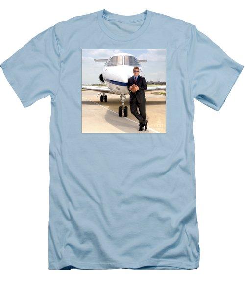 Dallas Cowboys Superbowl Quarterback Troy Aikman Men's T-Shirt (Slim Fit) by David Perry Lawrence