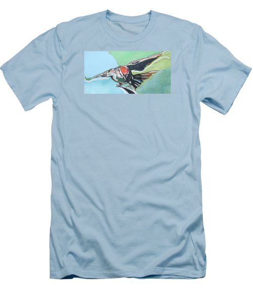 Dancing Sparrow Men's T-Shirt (Athletic Fit)