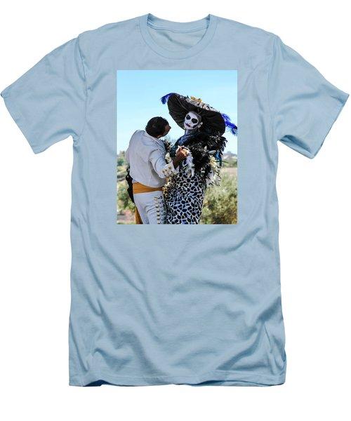 Dancing With The Death Men's T-Shirt (Slim Fit) by Menachem Ganon