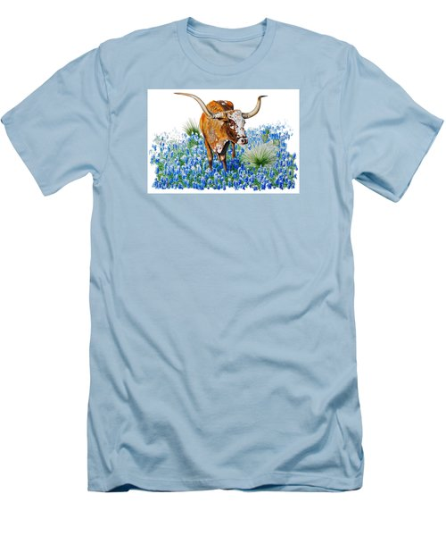 Da102 Longhorn And Bluebonnets Daniel Adams Men's T-Shirt (Athletic Fit)