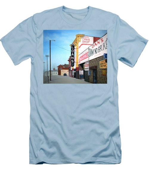Men's T-Shirt (Slim Fit) featuring the painting Dan's by Stacy C Bottoms