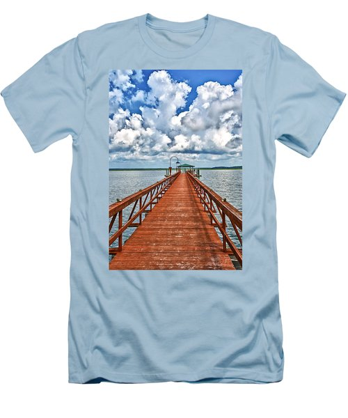 Daufuskie Pier Men's T-Shirt (Athletic Fit)