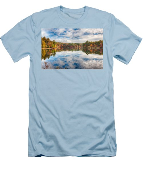 Dawn Reflection Of Fall Colors Men's T-Shirt (Athletic Fit)