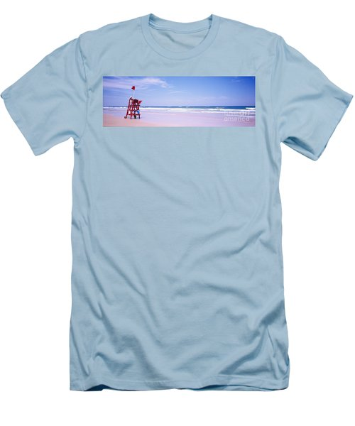 Daytona Beach Fl Life Guard  Men's T-Shirt (Athletic Fit)
