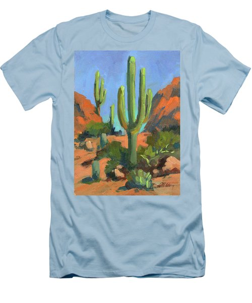 Desert Morning Saguaro Men's T-Shirt (Athletic Fit)