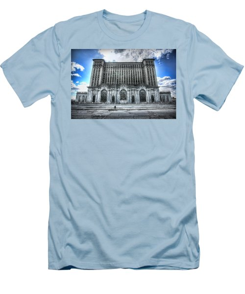 Detroit's Abandoned Michigan Central Train Station Depot Men's T-Shirt (Athletic Fit)