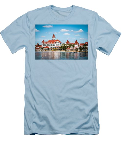 Disney's Grand Floridian Resort And Spa Men's T-Shirt (Slim Fit) by Sara Frank