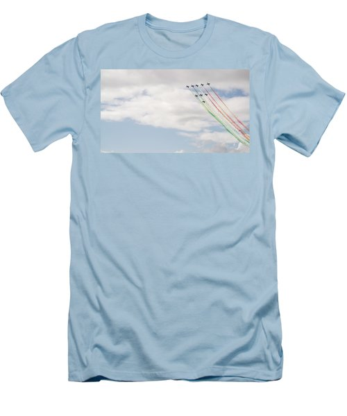 Men's T-Shirt (Slim Fit) featuring the photograph Displaying The Flag by Tracey Williams