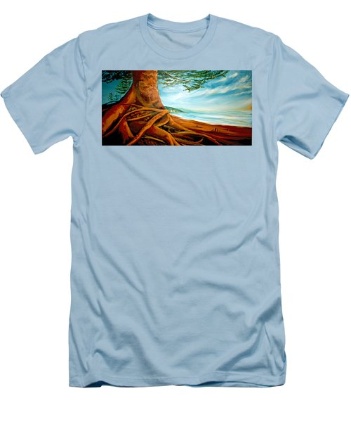 Men's T-Shirt (Slim Fit) featuring the painting Distant Shores Rejoice by Meaghan Troup