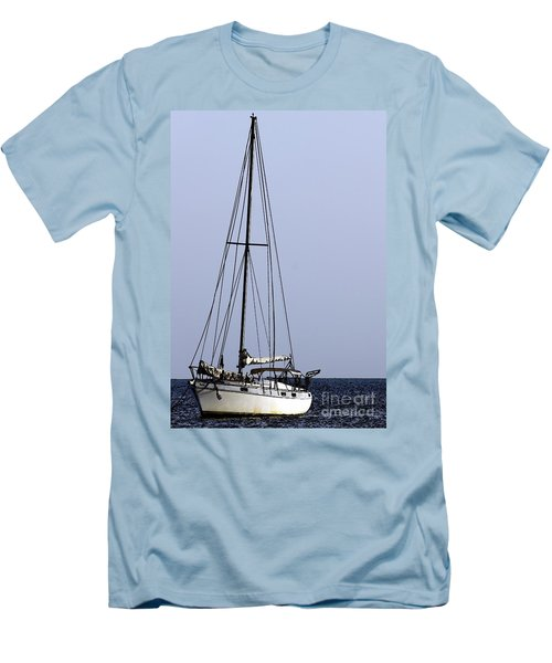 Men's T-Shirt (Slim Fit) featuring the photograph Docked At Bay by Lilliana Mendez