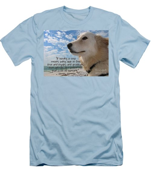 Doggie Soul Men's T-Shirt (Slim Fit) by Peggy Hughes