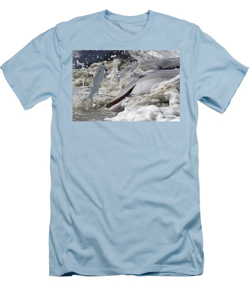 Dolphin Strand Feeding 2 Men's T-Shirt (Athletic Fit)